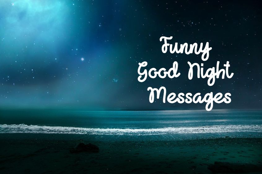 funny good night messages and images