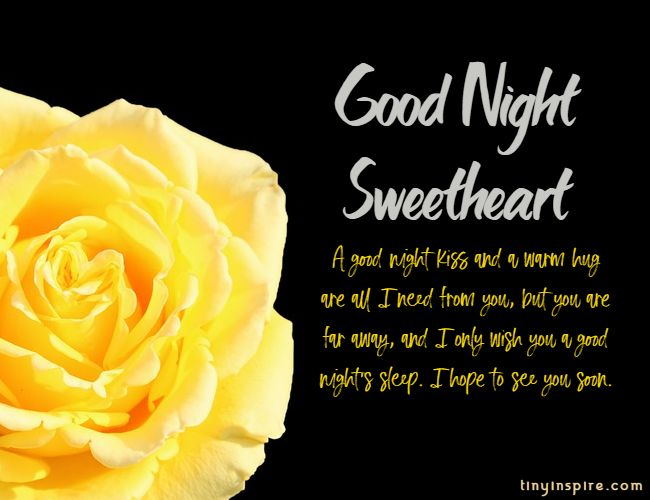 good night love messages for him