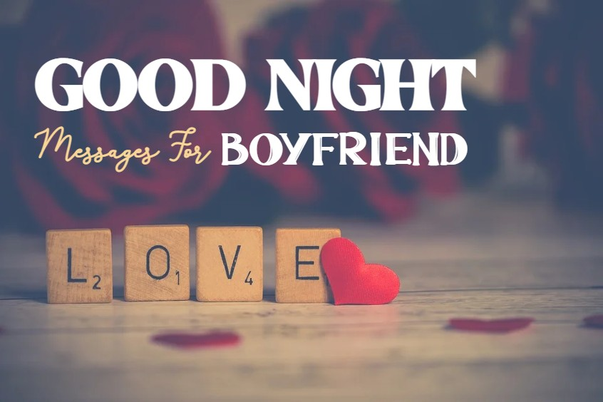 good night messages for boyfriend with images for good night