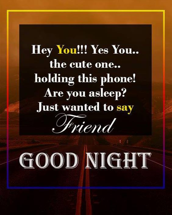 good night quotes for friends in english