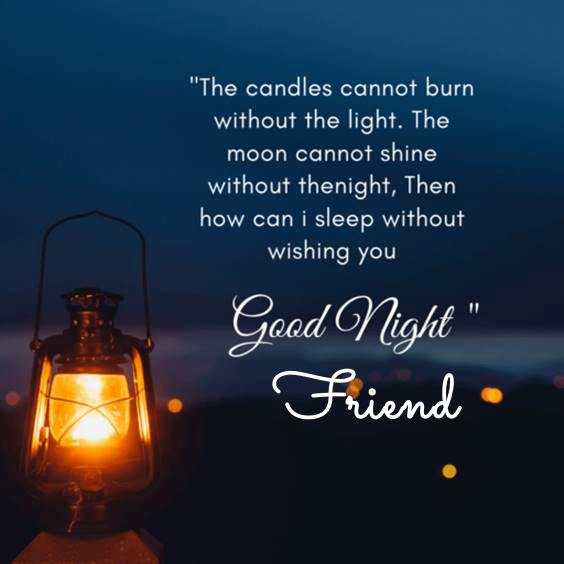 goodnight text for a friend