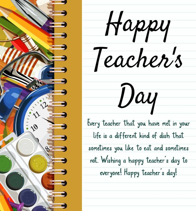 heartiest wishes to you dear on teachers day