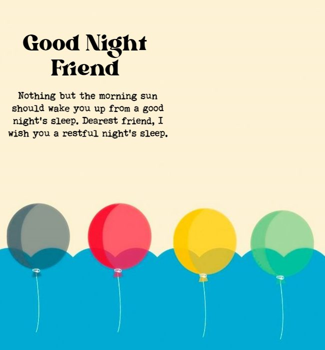 quotes for good night for friends