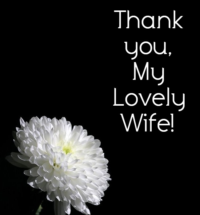 thank you message to my wife