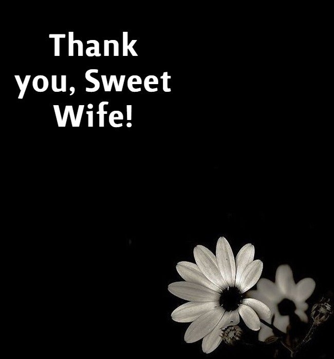 thank you my wife