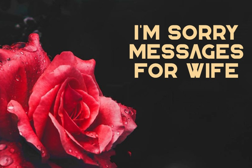 Sorry Messages For Wife With Pictures Quotes About Love Wishes