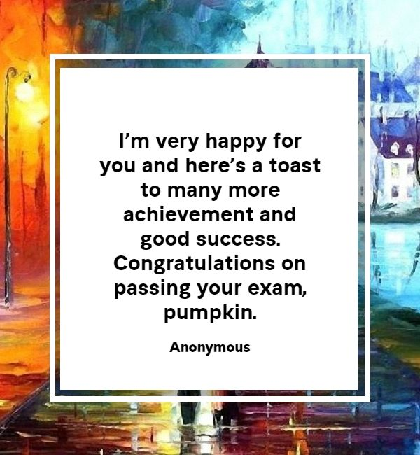 congratulations wishes for passing exam