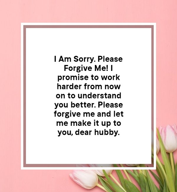 im sorry message for husbands