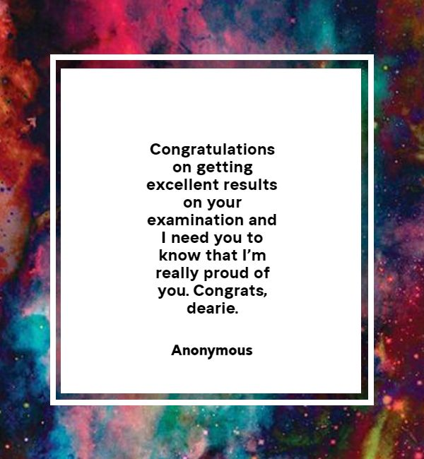 well done messages for passing exam